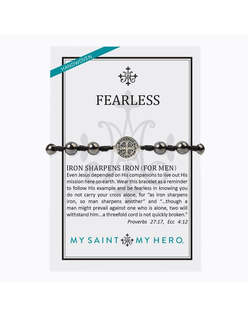 My Saint My Hero Fearless Iron Sharpens Iron Blessing Bracelet