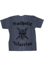Nelsons Fine Art and Gifts The Catholic Warrior Defender of the Faith T-Shirt L