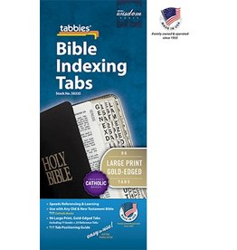 tabbies,inc Bible Tab-Large Print-O&N Testament W/Catholic Books-Gold