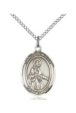 "Bliss Manufacturing Sterling Silver St. Remigius of Reims Medal-Pendant With 20"" Chain Necklace"