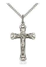 """Bliss Manufacturing Sterling Silver Crucifix Pendant With 18""""  Chain Necklace"""