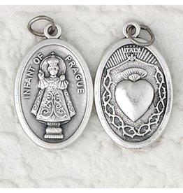 Lumen Mundi Infant of Prague Oxidized Medal