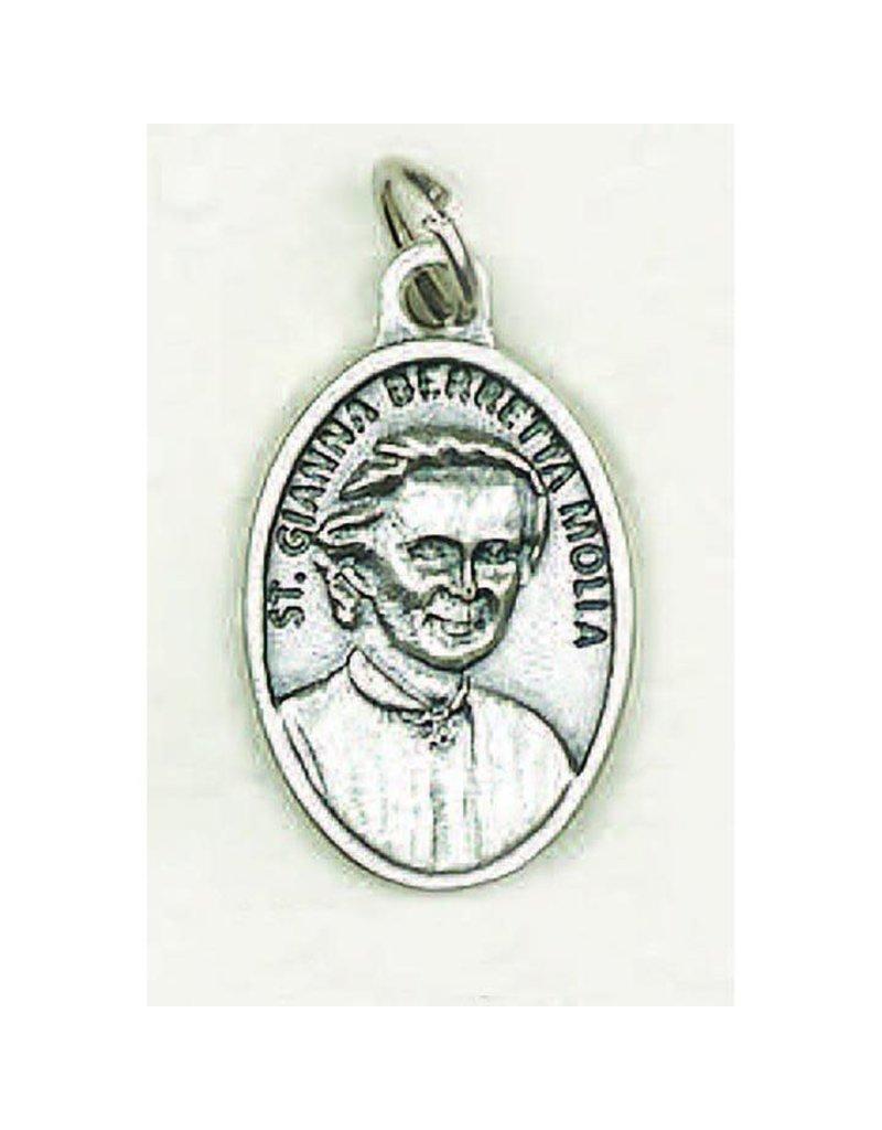 Lumen Mundi Saint Gianna Berretta Molla Oxidized Medal