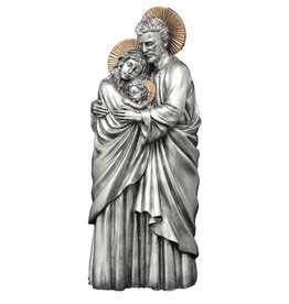 """Goldscheider of Vienna 11"""" Two Tone Holy Family Statue"""