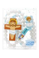 Little Drops of Water Blue Boy Guardian Angel Rosary
