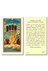 Laminated Prayer Card Novena to the Most Powerful Hand