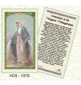 Laminated Holy Card Oracion a la Virgen Milagrosa