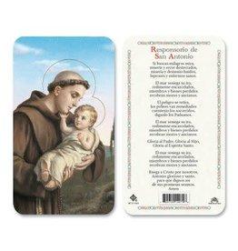 Laminated Holy Card Responsorio de San Antonio
