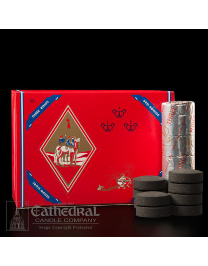 """Cathedral Candle Co. Box of 100 Charcoal - """"Quick Lighting for Incense"""" Roll of 10"""