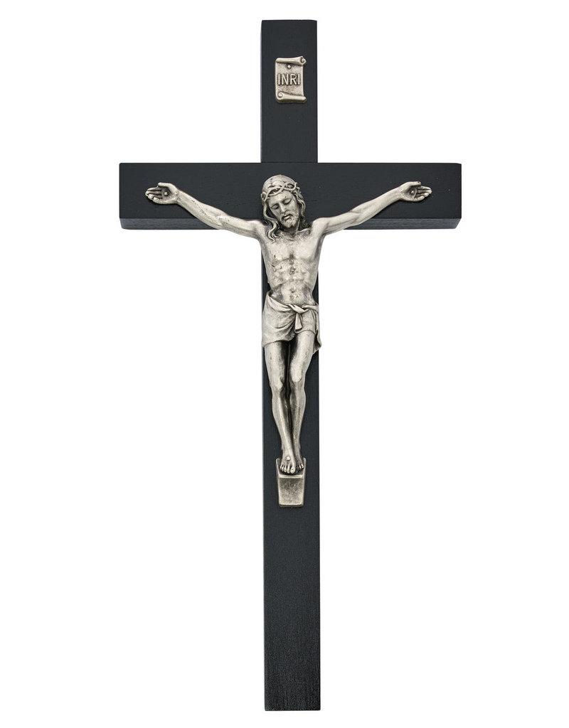 "McVan 10"" Black Painted Crucifix"