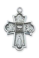 McVan Antique Silver 4 Way Communion Cross