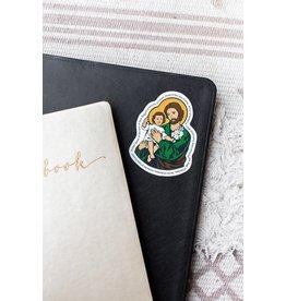 Sock Religious St. Joseph Sticker