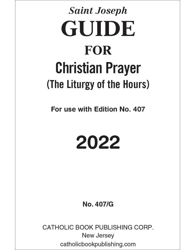 Catholic Book Publishing Corp 2022 Saint Joseph Guide for Liturgy of the Hours Large Print