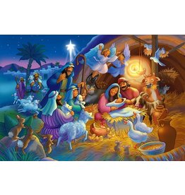 Vermont Christmas Company Jigsaw Puzzle-Heavenly Night (100 Pieces)