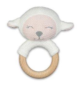 """Brownlow Gift Teething Rattle-Lamb (5"""")"""