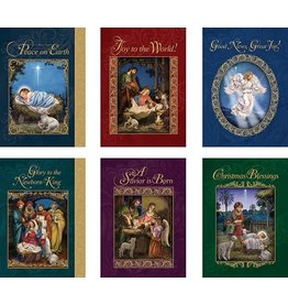 Ambrosiana Assorted God's Gift of Love Christmas Cards with Envelope (Pack of 24)