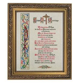"""Gerffert 11"""" x 13"""" Bless Our Marriage Framed Print"""