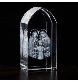 Jeweled Cross Company Holy Family Etched Glass Stand