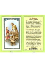 WJ Hirten Laminated Holy Card Daily Prayer to St. Joseph the Worker