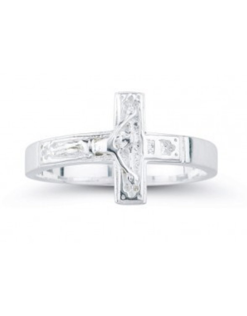 HMH Religious Sterling Silver Crucifix Ring Size 10