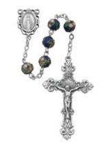McVan 8MM Dark Blue Cloissone Rosary