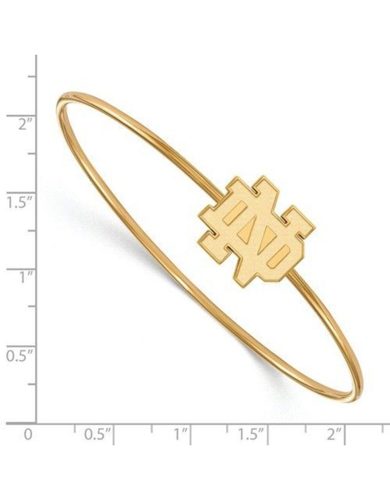 SS GP Logo Art University of Notre Dame Bangle Slip on