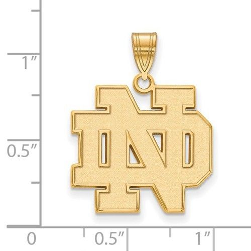 University of Notre Dame Pendant Gold Plated over Sterling