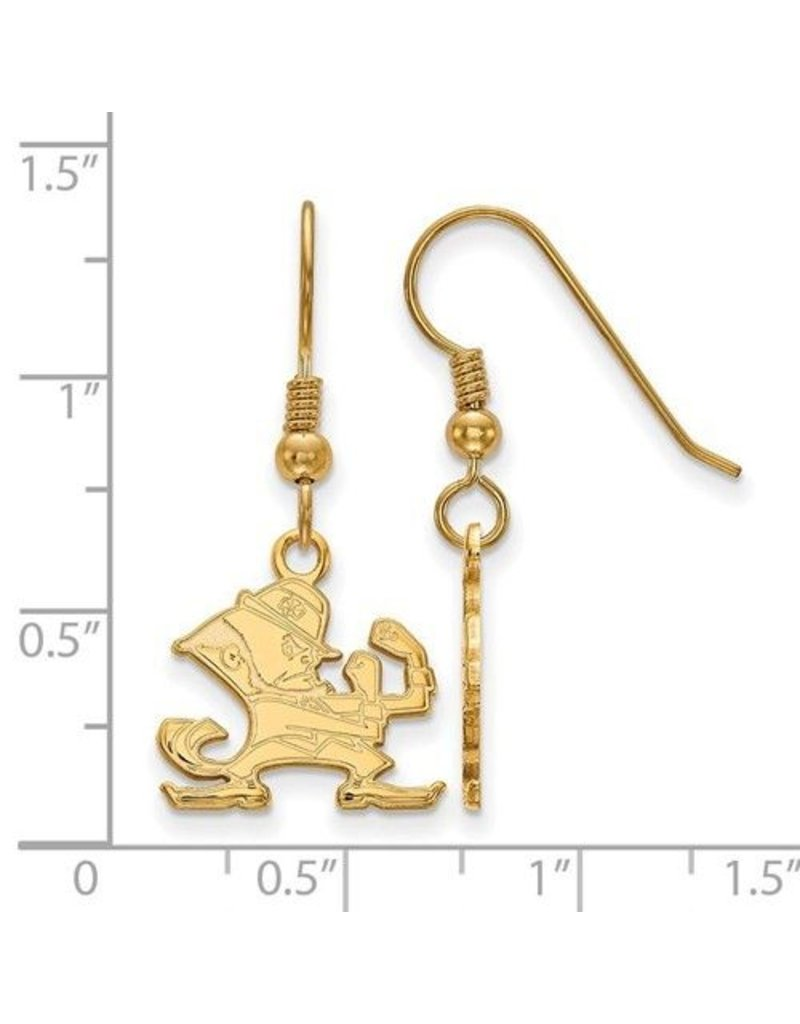 Sonia Jewels SS GP Logo Art University of Notre Dame Small Dangle Earring Wire