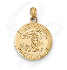 14K Gold St. Michael Medal Pendant Only