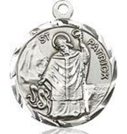 """Bliss Manufacturing Sterling Silver St. Patrick Medal-Pendant With 24"""" Chain Necklace"""