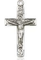 """Bliss Manufacturing Sterling Silver Crucifix on 18"""" Chain"""
