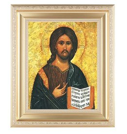 WJ Hirten Christ the Teacher (Gold Frame)