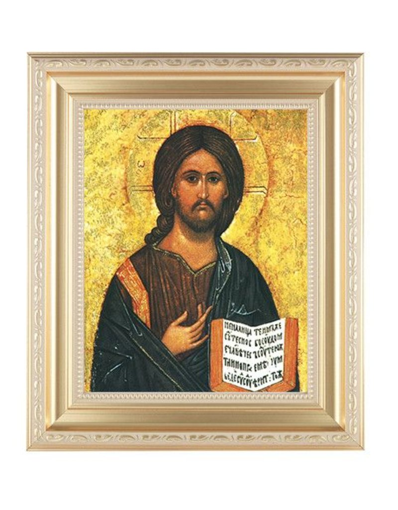 WJ Hirten Christ the Teacher (Gold Frame)