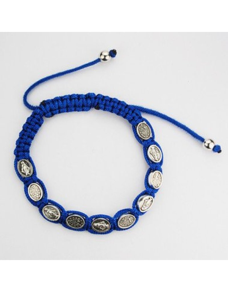 McVan Blue Miraculous Cord Bracelet