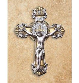 "Avalon Gallery 10.25"" St. Benedict Ornate Wall Crucifix"