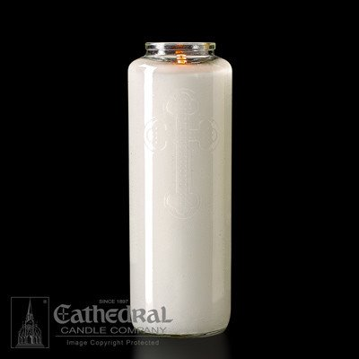 Cathedral Candle Co. 6 Day Votive Light in Glass (Crystal, Bottle Style, Single Candle)
