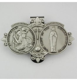 McVan McVan Visor Clip with Saint Christopher and Our Lady of the Highway