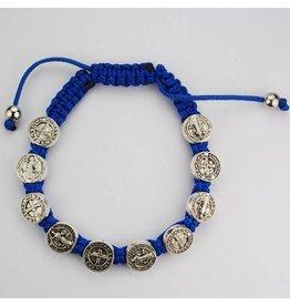 McVan Blue St. Benedict Adjustable Cord Bracelet