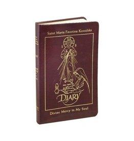 Marian Press Diary of Saint Maria Faustina Kowalska: Divine Mercy in My Soul (Burgandy Leather)