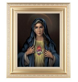 "WJ Hirten 11"" x 13"" Immaculate Heart of Mary with Gold Frame"