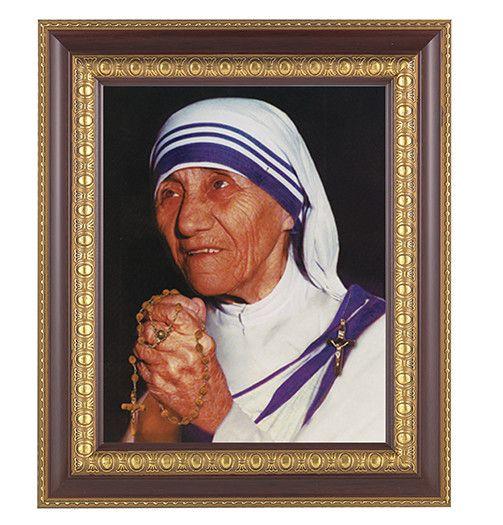 WJ Hirten St. Mother Teresa 8 x 10 in Cherry Frame