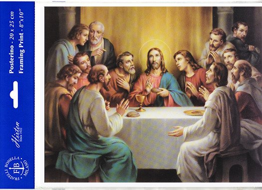 "WJ Hirten 8"" X 10"" Last Supper (Print Only) Bonella"