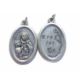 St. Ann Oxidized Medal