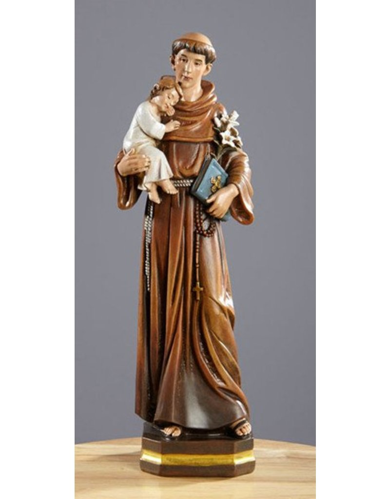 "Avalon Gallery Saint Anthony 12"" Resin"