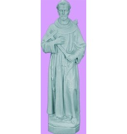 "Space Age Plastics 24"" Saint Francis - Granite Finish"