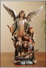 "9"" Guardian Angel with Children Statue"