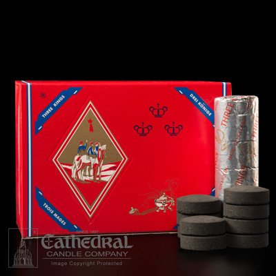 """Cathedral Candle Co. Charcoal - """"Quick Lighting for Incense"""" Roll of 10"""