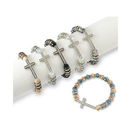 Howard's Inc Stone Cross and Bead Bracelet