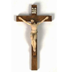 "Goldscheider of Vienna 16"" Crucifix Fully Hand-painted"