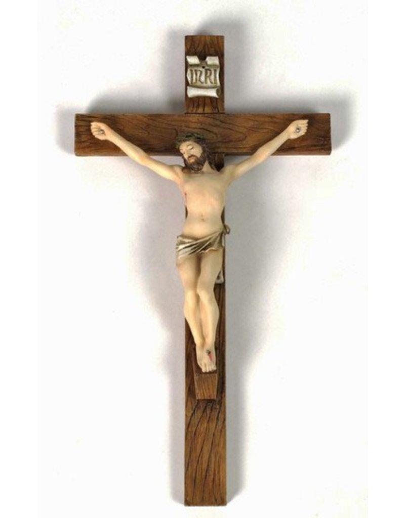 "Goldscheider of Vienna 16"" Crucifix Fully Hand-painted Veronesse Collection"